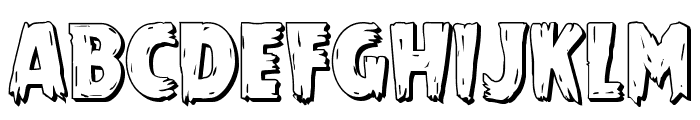 Mrs. Monster 3D Font UPPERCASE