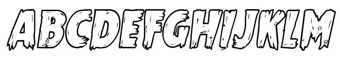 Mrs. Monster Bold Outline Italic Font UPPERCASE