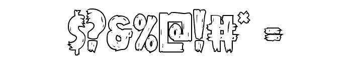 Mrs. Monster Outline Font OTHER CHARS