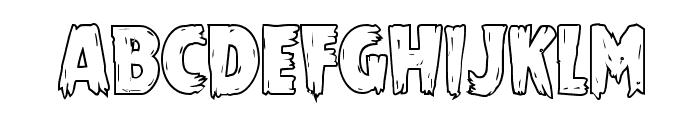 Mrs. Monster Outline Font LOWERCASE