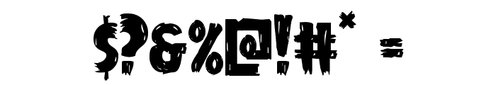 Mrs. Monster Regular Font OTHER CHARS