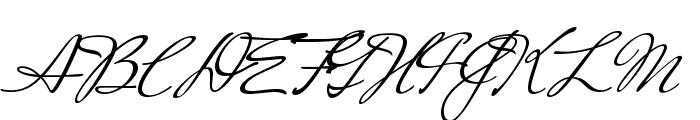 Mrs Saint Delafield Regular Font UPPERCASE