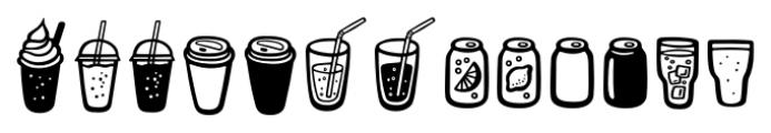 Mr Foodie Beverages Regular Font LOWERCASE