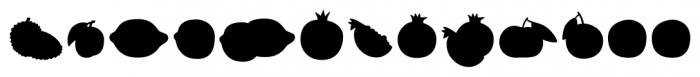 Mr Foodie Fruits Back Font LOWERCASE