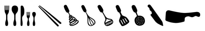 Mr Foodie Kitchen Back Font UPPERCASE