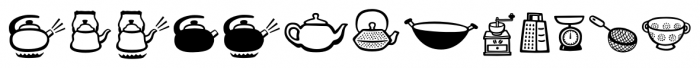 Mr Foodie Kitchen Regular Font LOWERCASE