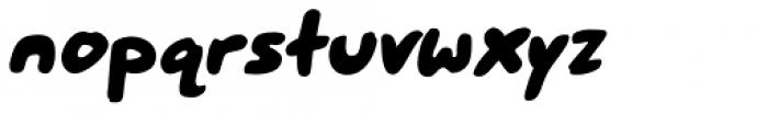 Mr. Brunch FT Bold Oblique Font LOWERCASE