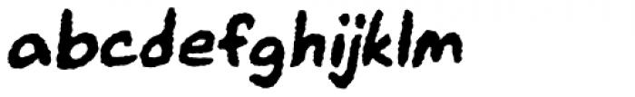 Mr. Brunch FT Jitters Oblique Font LOWERCASE