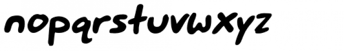 Mr. Brunch FT Medium Oblique Font LOWERCASE