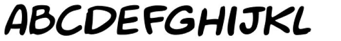 Mr. Brunch FT Oblique Font UPPERCASE