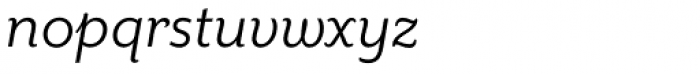 Mr Eaves Sans Book Italic Font LOWERCASE