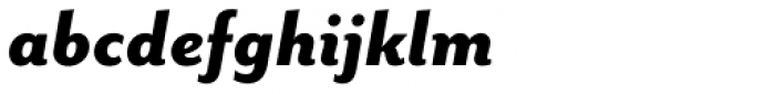 Mr Eaves Sans Heavy Italic Font LOWERCASE