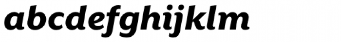 Mr Eaves XL Sans Heavy Italic Font LOWERCASE