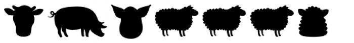 Mr Foodie Animal Prod Back Font UPPERCASE
