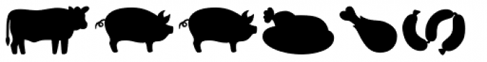 Mr Foodie Animal Prod Back Font LOWERCASE