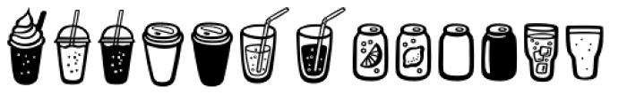 Mr Foodie Beverages Font LOWERCASE