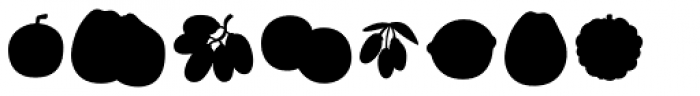 Mr Foodie Fruits Back Font OTHER CHARS