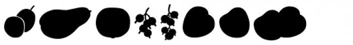 Mr Foodie Fruits Back Font UPPERCASE