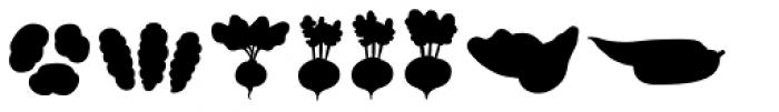 Mr Foodie Veggies Back Font UPPERCASE