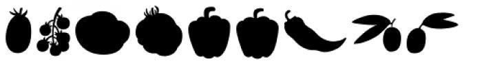 Mr Foodie Veggies Back Font LOWERCASE