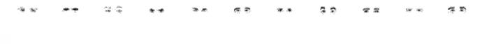 Mr J Smith Eyes Font UPPERCASE