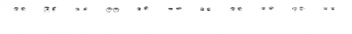 Mr J Smith Eyes Font LOWERCASE
