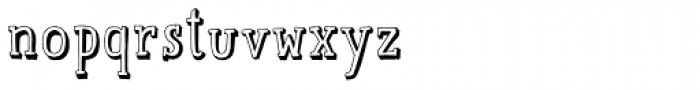 Mr Lucky Shadowed Font LOWERCASE