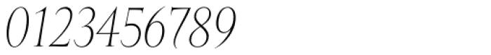 Mramor Light Pro Italic Font OTHER CHARS