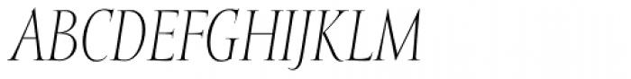Mramor Light Pro Italic Font UPPERCASE
