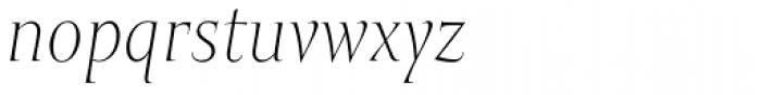 Mramor Light Pro Italic Font LOWERCASE
