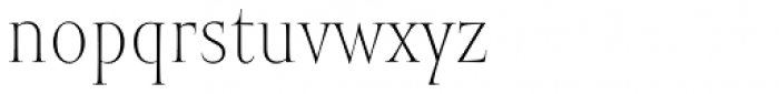 Mramor Light Pro Font LOWERCASE