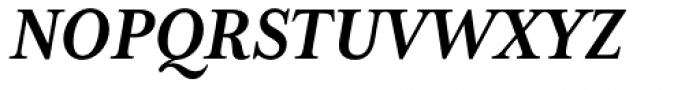 Mrs Eaves XL Serif Nar Bold Italic Font UPPERCASE