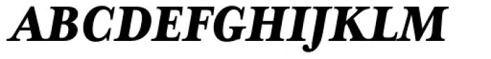 Mrs Eaves XL Serif Nar Heavy Italic Font UPPERCASE