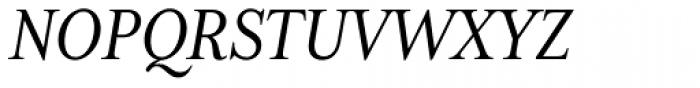 Mrs Eaves XL Serif Nar Italic Font UPPERCASE