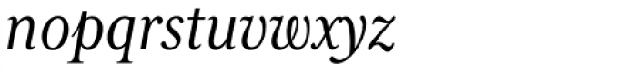 Mrs Eaves XL Serif Nar Italic Font LOWERCASE