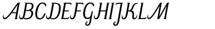 Mrs Green Light Italic Font UPPERCASE