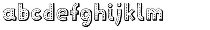 Mrs Lollipop 3D Dotted Font LOWERCASE
