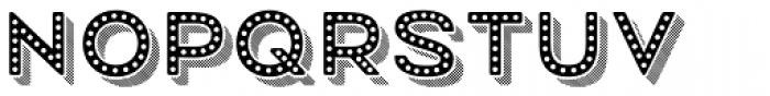 Mrs Onion 3D Striped Dotted Font LOWERCASE