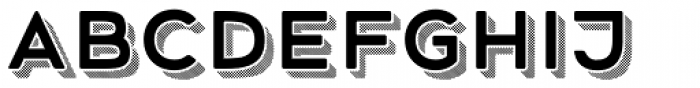 Mrs Onion 3D Striped Font LOWERCASE