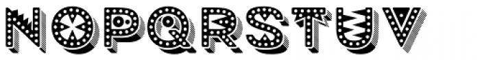 Mrs Onion Monsters Shading Dotted Font LOWERCASE