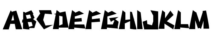 MSTK RUFCUT Font UPPERCASE