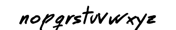 MT Matto Script Bold Font LOWERCASE