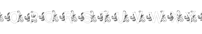 MTF Base Leafy Font UPPERCASE