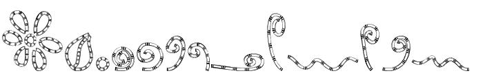 MTF Chunkie Doodle Font LOWERCASE