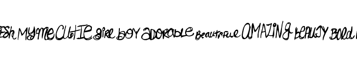 MTF Doodlewhats Font LOWERCASE