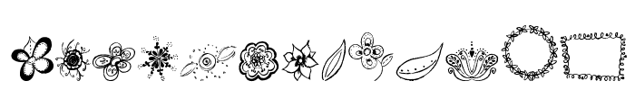 MTF Flower Doodles Font LOWERCASE