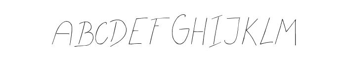 MTF Flowrites Font UPPERCASE