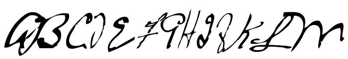 MTF Frozen Solid Font UPPERCASE