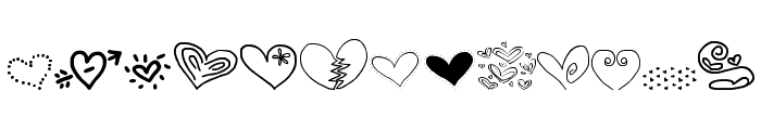 MTF Heart Doodle Font LOWERCASE