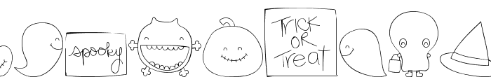 MTF Sweet Halloween Dings Font LOWERCASE